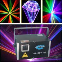ILDA 멀티 컬러 레이저 프로젝터 2500MW RGB 풀 컬러 DMX 조명 파티 쇼 DJ 장비