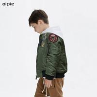 Aipie-1830 дети мальчик куртки новый бренд мода пилот Бейсбол одежда куртка толстый стиль хлопок пальто