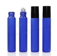 Neue Ankunft Ziehen Rohr 10 ML Glas Roller Öl Flaschen Blau Lila Grün Rot 10 ml Rolle Auf Flaschen Aromatherapie Duft 1000 Teile / los Fabrik P