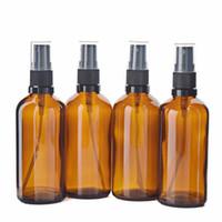 4 x 100ml leere bernsteinfarbene Glas-Aromatherapie-Spray-Flaschen mit feinem Nebel-Sprayer für Parfümkosmetikbehälter des ätherischen Öls