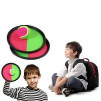 Yakalamak Yarasa Topu Atmak Çocuklar Yapışkan Top Oyuncaklar Aile açık Spor Topları Oyuncak 2 yarasalar 1 Top El Chuck Topları Enayi Topları Eğlenceli Oyunlar YFA63