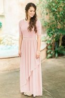 2018 Cheap Chiffon Half Sleeves Country Wedding Bridesmaids ...