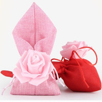 Style européen Rose Fleur Décoration Faveurs De Mariage Boîtes De Bonbons Cadeaux Boîte De Bonbons Sacs De Mariée Douche Coffret Cadeau