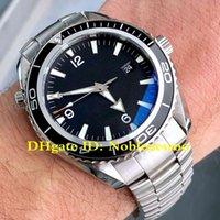 6 style Luxe Mens Watch Planet Ocean 600M Co-Axial 2200,50 acier James cadran noir professionnel Bond 007 Asie 2813 Montres automatiques d'hommes