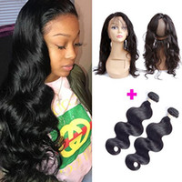 360 Full Lace Frontal Closure With 2 Bundles Brazilian Virgi...
