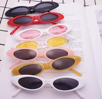 Oval Narrow Cat Eye lunettes de soleil petite taille encadrée gouttelettes d'eau Jelly Trend lunettes de soleil Vintage sports lunettes de soleil lunettes de soleil en plein air epacket