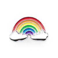 Renkli gökkuşağı toptan eşya fiyat 50pcs İç Dia. 8mm DIY slayt Charms fit 8mm bileklik bilezik hayvan yaka anahtarlık