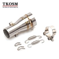 TKOSM 51mm Motocicleta GP Escape Silenciador Adaptador de Tubo de Enlace Moto Medio Escape Conector