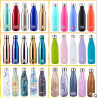 30 Colors 500ml Creative Cola Water Bottle Shaped Insulated ...