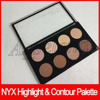 NYX Highlight Contour Pro Palette Concealer Powder Shadow Foundation Gesicht Palette Full Size 8 Farben Schatten Make-up Dhl frei