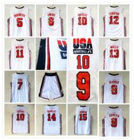 c98f1432b66 1992 Dream Team Jersey 9 Michael 5 Robinson 6 Ewing 7 Larry Bird 8 Pippen  10 Drexler 11 Malone 12 STOCKTON 14 BARKLEY 15 JOHNSON TOP