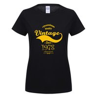 Omnitee Vintage 1978 T- shirt Women O- neck Cotton Short Sleev...
