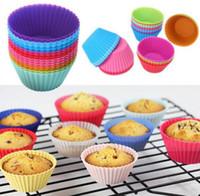 Venda quente de alta qualidade cupcake silicone bolo Cup moldes bolo muffin casos de silicone moldes de chocolate titular ferramentas de cozimento