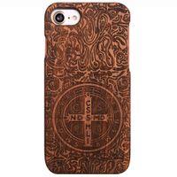 IPhone için xiphone7plus / 8 artı iPhone7 / 8 kılıf, ahşap kutu Benzersiz Hakiki Doğal Gül Ahşap Durumda Sert Bambu Darbeye Vaka (Konstantin)