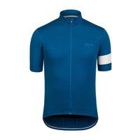 Mens Ropa Ciclismo Rapha Pro 팀 사이클링 짧은 소매 유니폼 MTB 자전거 셔츠 도로 자전거 복장 여름 야외 스포츠 유니폼 S21033115