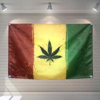 Feuille Drapeau Bannière Jamaïque Bob Marley reggae Musique Rock Band Décoration de Maison Drapeau Suspendu 4 Gromments à Coins 3 * 5FT 144cm * 96cm04