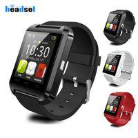 Bluetooth U8 SmartWatch Wrest Watches شاشة تعمل باللمس لسامسونج Android Phone Sleeping Monitor Watch الذكية مع حزمة البيع بالتجزئة