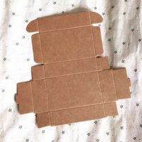 Caja de papel de cartón de empaquetado del regalo de Kraft barato 100pcs, caja hecha a mano natural del arte del kraft del jabón pequeño, caja de papel del cartón de Kraft