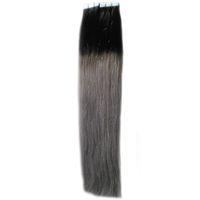 11 Couleurs En Option Gris Appliquer Peau Trame Bande Cheveux 100g 40pcs Bande Ombre Extensions de Cheveux cendres extensions de cheveux blonds ruban adhésif