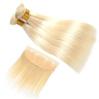613 Blonde Silky Straight Human Hair Bundles With Frontal Un...