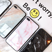 Marble Glass Phone Case For Apple iPhone X XS XS Max XR 8 7 ...