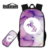Top Quality Schoolbags Per Adolescenti Ragazze 2 Pz Set Zaini Astuccio A Scuola Cartoon Unicorno Stampa Designer Bookbags Zaino