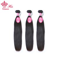 "Queen Hair Brazilian Virgin Human Hair Straight 3pcs 12""..."