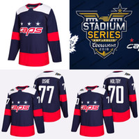 # 70 Braden Holtby Jersey 2018 Stadium Series Washington Capitals 19 Nicklas Backstrom 77 TJ Oshie 100% Stitched Hockey Jerseys Wholesale