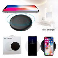 Wireless Fast Quick Qi Cargador de carga 9V 1.67A 5V 2A para iPhone 12 Mini 11 PRO XS XR MAX 8 7 PLUS SAMSUNG NOTA 20 GALAXY S21 S20 Ultra