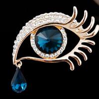 El ángel lágrimas broche conjunto diamante grandes ojos largos pestañas corsage decoración delicada hermosa fiesta suministros