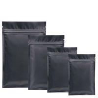 Black Mylar sacos de alumínio Folha Zipper Saco para armazenamento de alimentos a longo prazo e proteção colecionáveis Proteção Dois lados coloridos 900pcs