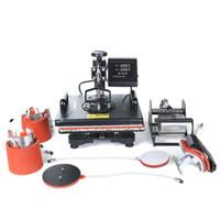 8 في 1 متعددة الوظائف السرد الرقمية نقل طابعة التسامي الحرارة ، سوينغ بعيدا الحرارة الصحافة آلة قبعة / القدح / لوحة / حالة / تي شيرت