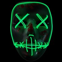 Led Halloween Ghost Masks The Purge Election Year Mask EL Wi...