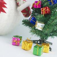 Adornos para árboles de Navidad caja Adornos Adornos Regalos de Navidad Decoración Caja de Navidad Decoraciones Para el hogar envío gratis