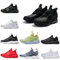 Huarache 4 IV Ultra Chaussures De Course Pour Femmes, Hommes Armée Vert Rouge Blanc Noir Huaraches 2018 nice Sports Sneakers Trainers Huraches Chaussure
