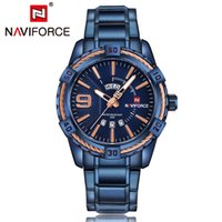 DHL NAVIFORCE Top Brand Luxury Men Watches Blue Waterproof D...
