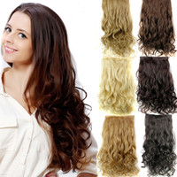 Z&F 16 Colors Option 17Inch Long Curly Clip In Hair Extensio...
