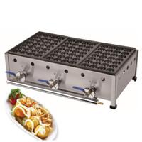 Ücretsiz Kargo Ticari Kullanım LPG Gaz Japon Ahtapot Balık Topu Takoyaki Makinesi Makinesi Endüstriyel gaz takoyaki makineleri