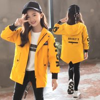 Girls 6- 14 Years Hooded Casual Spring Autumn Mid- long Jacket...