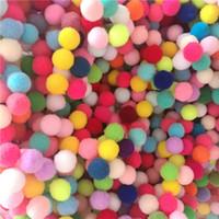 188Ps 15 мм Смешанные Цветные Помпоны Меховой Мяч Плюшевые Мячи Мягкие Пом Пом Мячи для DIY Домашний Сад Свадебные Украшения Швейные Аксессуары