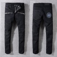 2017 NUEVOS Hombres Jeans rectos clásicos jeans de mezclilla Pantalones famosos pantalones de marca negro casual jeans largos