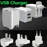 Folding Plug Dual USB Wall Charger Portable Travel Charger P...