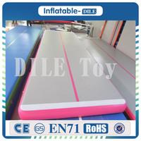 شحن مجاني 6x1x0. 1m Pink Inflatable Air Track Air Matter Tumblle Track Tumbling Matter For Sale