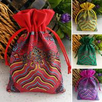 Шелковый шнурок ювелирные изделия организатор сумка смешанные цвета Сатин Рождество свадебный подарок сумка ожерелье / ювелирные изделия упаковка 10x14cm