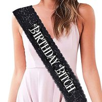 "Black Lace "" Birthday Bitch"" Sash Perfect Gifts for..."