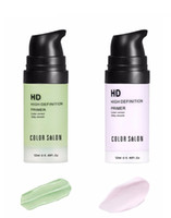 Color Salon face Care Corrector Primers 12ml greenpurple Fácil de absorber Suave Base de maquillaje Crema facial Crema hidratante natural