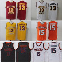 # 13 James Harden Arizona Estado Jersey Stitched College # 15 Camerlo Anthony Syracuse Jersey Cheap Mens University Jersey