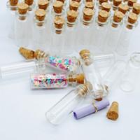 Mini pequeño tapón de corcho claro vidrio deseando botellas tarro de cristal transparente bayoneta de corcho con corcho