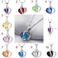 2018 Fashion Necklace Inlaid Crystal Jewelry Natural Amethys...