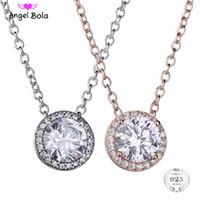 100% 925 Sterling Silver Amor Claro CZ Coração Mulheres Pingente Colares Luxo Jóias Finas Namorada Presente